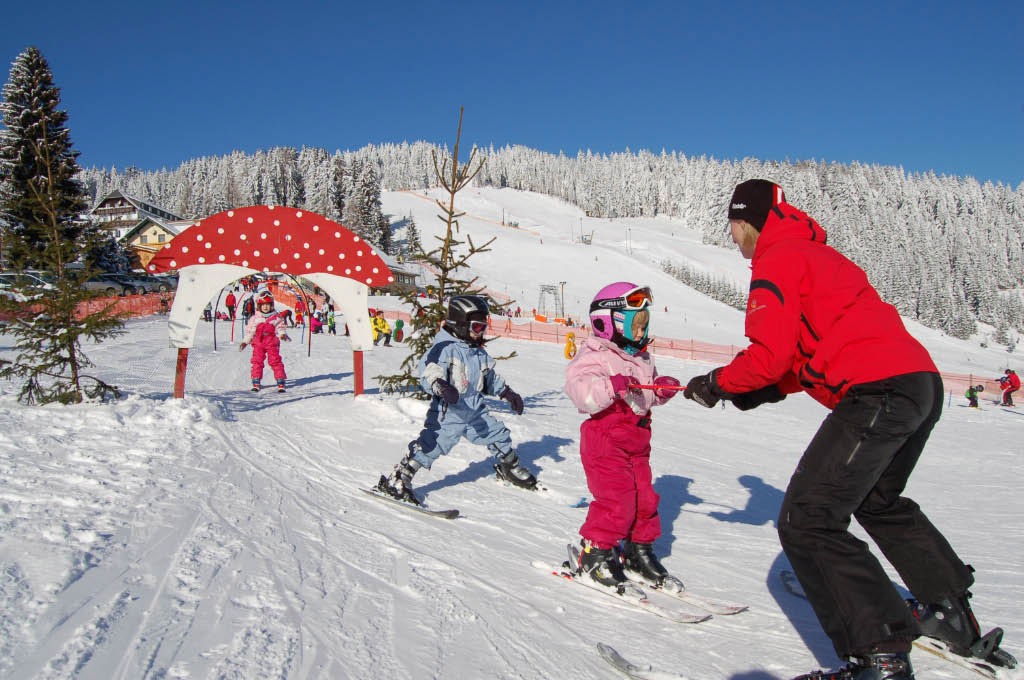 winter kinder personen skipiste 6